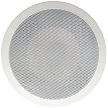 Micca M-8C 8-Inch 2-Way In-Ceiling In-Wall Speaker with Pivoting 1-Inch Silk Dome Tweeter, White