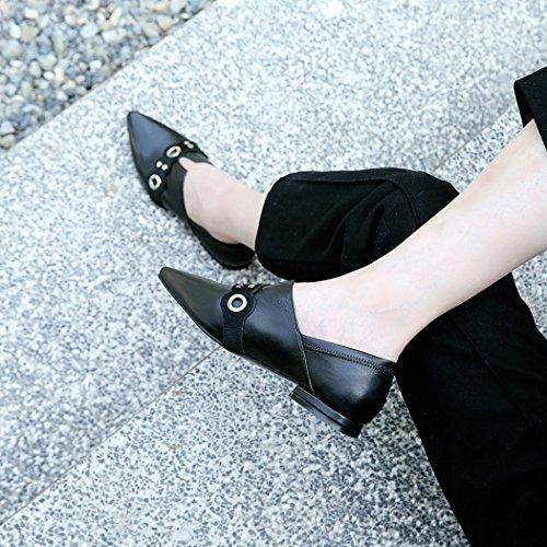 de Carrera Zapatillas Desgaste Zapatos Moda Casual Negro de Zapatos Mujer Zapatos Dos Plana Punta Estrecha GAOLIXIA Trabajo de Negro Caramelo de de 8q64Cnw