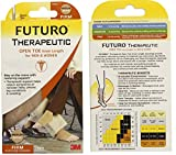 Futuro Open Toe Knee Length for Men and Women, Biege, Medium, Firm (20-30 mm/Hg) (6 Pack)