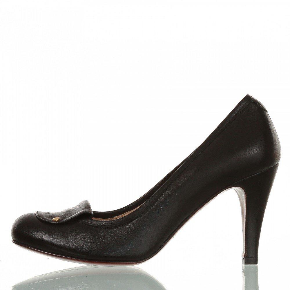 AIGNER Damen leder Pumps schwarz 9 cm Absatz, Schuhgröße:40