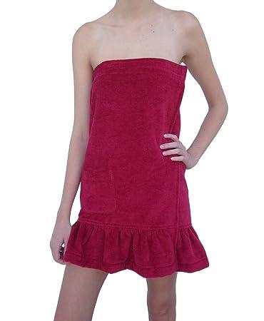 Amazoncom Womens Terry Velour Bath Towel Wrap Spa Shower Robe