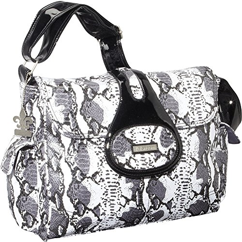 Kalencom Diaper Bag, Elite Python Black and White