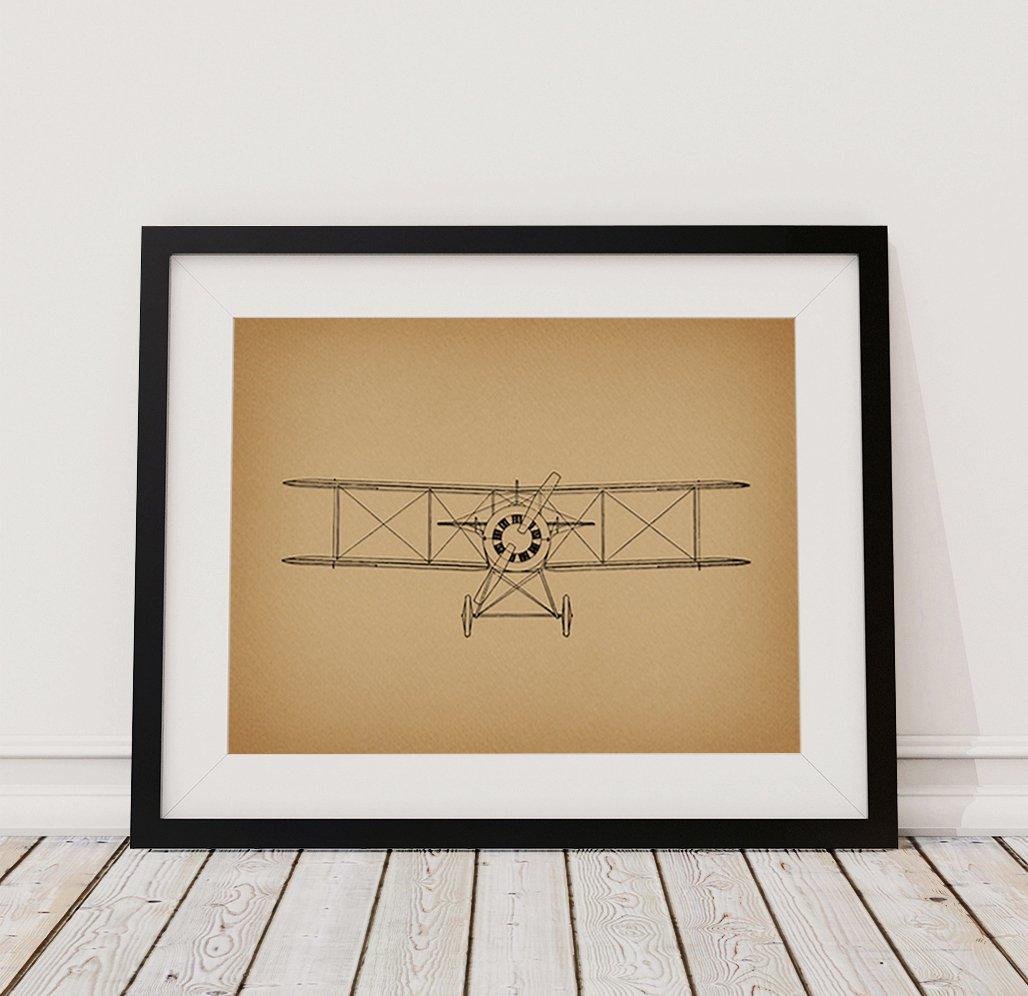 Amazon.com: Vintage Airplane Print Aviation Wall Art & Home ...
