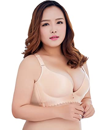 6c465a728c1 Liangpin Women Bra Padded Push Up Bralette Plus Size Comfy Plunge ...