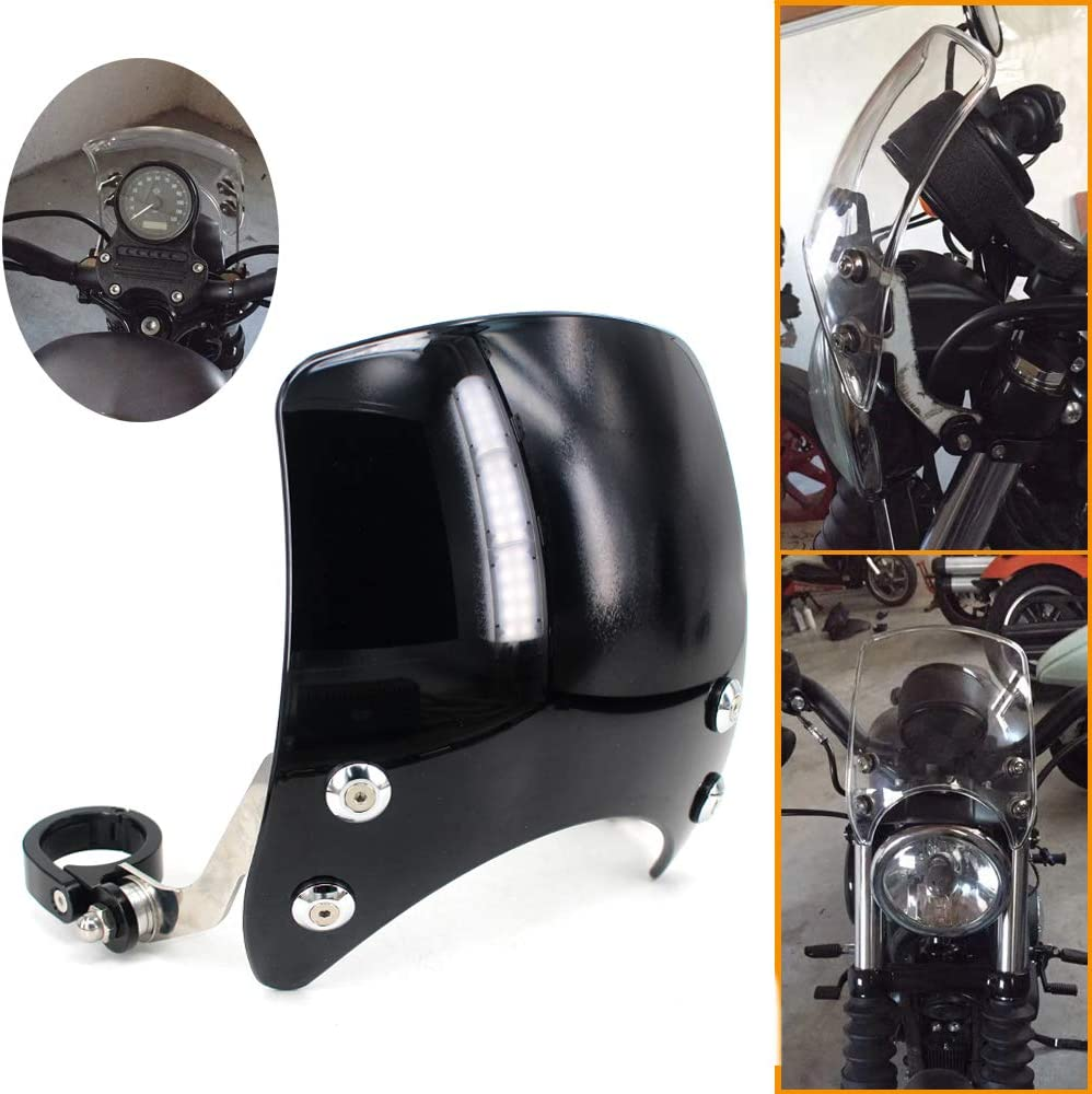 Black Front Cowl Fork Mount Headlight Fairing Fit for Harley 48 72 XL883 1200L