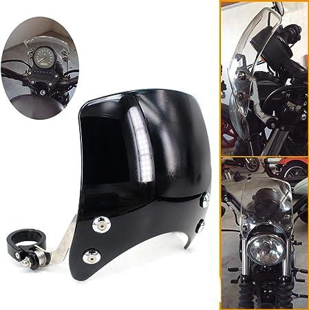 tongzhou Deflettore del Vento del Parabrezza del Parabrezza del Motociclo modificato Nero