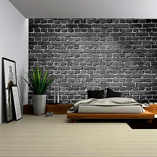 Old Dark Brick Wall Texture Background