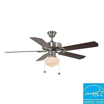 hampton bay trimount 52 in brushed nickel energy star ceiling fan - Hampton Bay Ceiling Fans