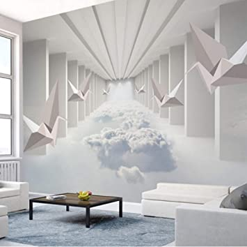 3d Stickers Wallpaper Murals Wall Decorations Abstract Architecture Cloud Home Decor Simple Living Room Bedroom Art Girls Bedroom W 140x H 100cm Amazon Com