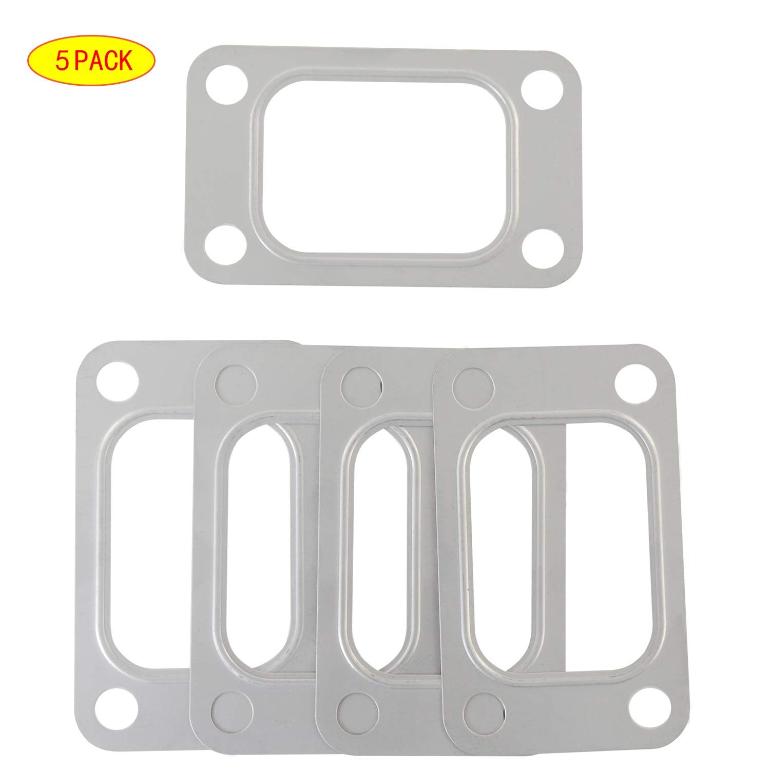 PTNHZ 5 Pcs Stainless Steel Turbo Turbine Inlet Manifold Gasket for T25 T28 HQ