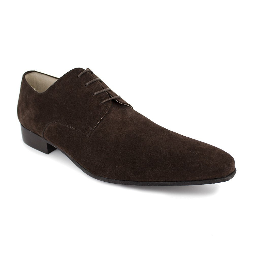 J.BRADFORD Derby Cuir Marron JB-Steel