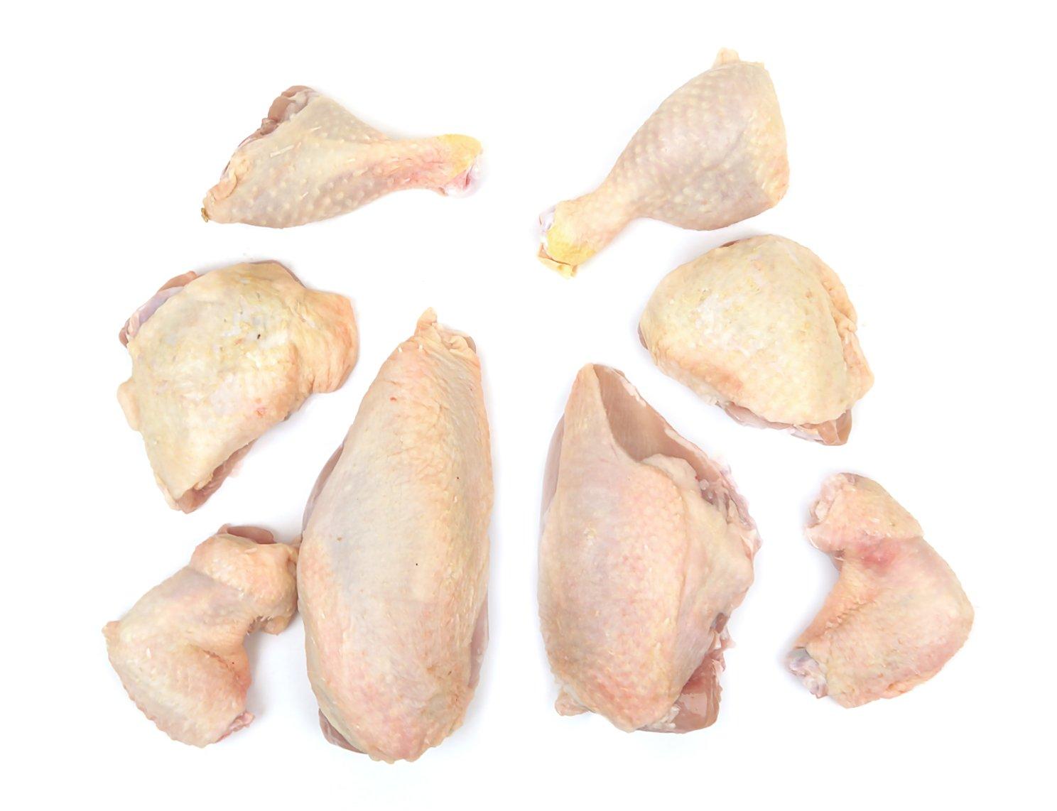 Double Certified Organic Chicken Cut in Eights (10.25-10.75 Lbs) - Glatt Kosher