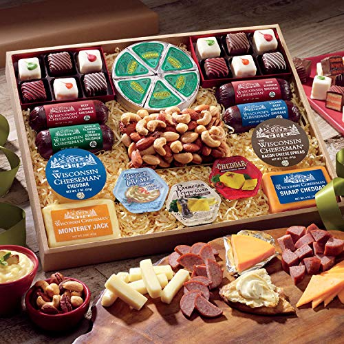 Happy Holidays Food Gift Assortment from The Wisconsin Cheeseman