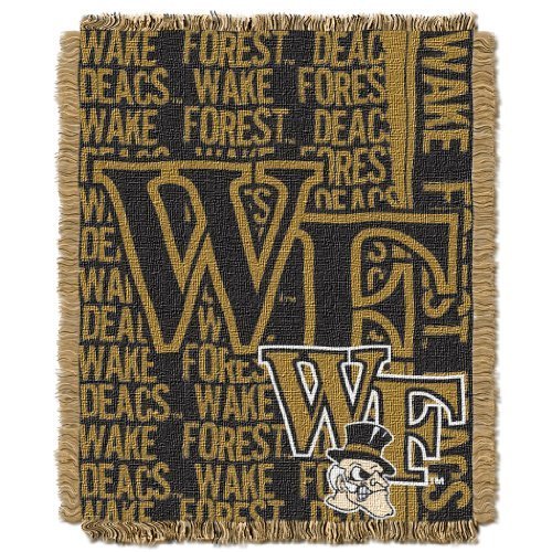 NCAA Wake Forest Demon Deacons 48 x 60-Inch Double Play Jacquard Triple Woven Throw by Northwest