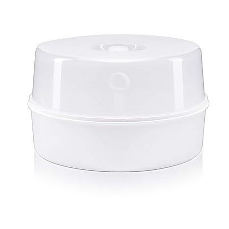vasos Alecto BW-04 bombas de leche vasos y cubiertos Incluye pinzas para botellas. Esterilizador de microondas para hasta 4 biberones de 150 ml