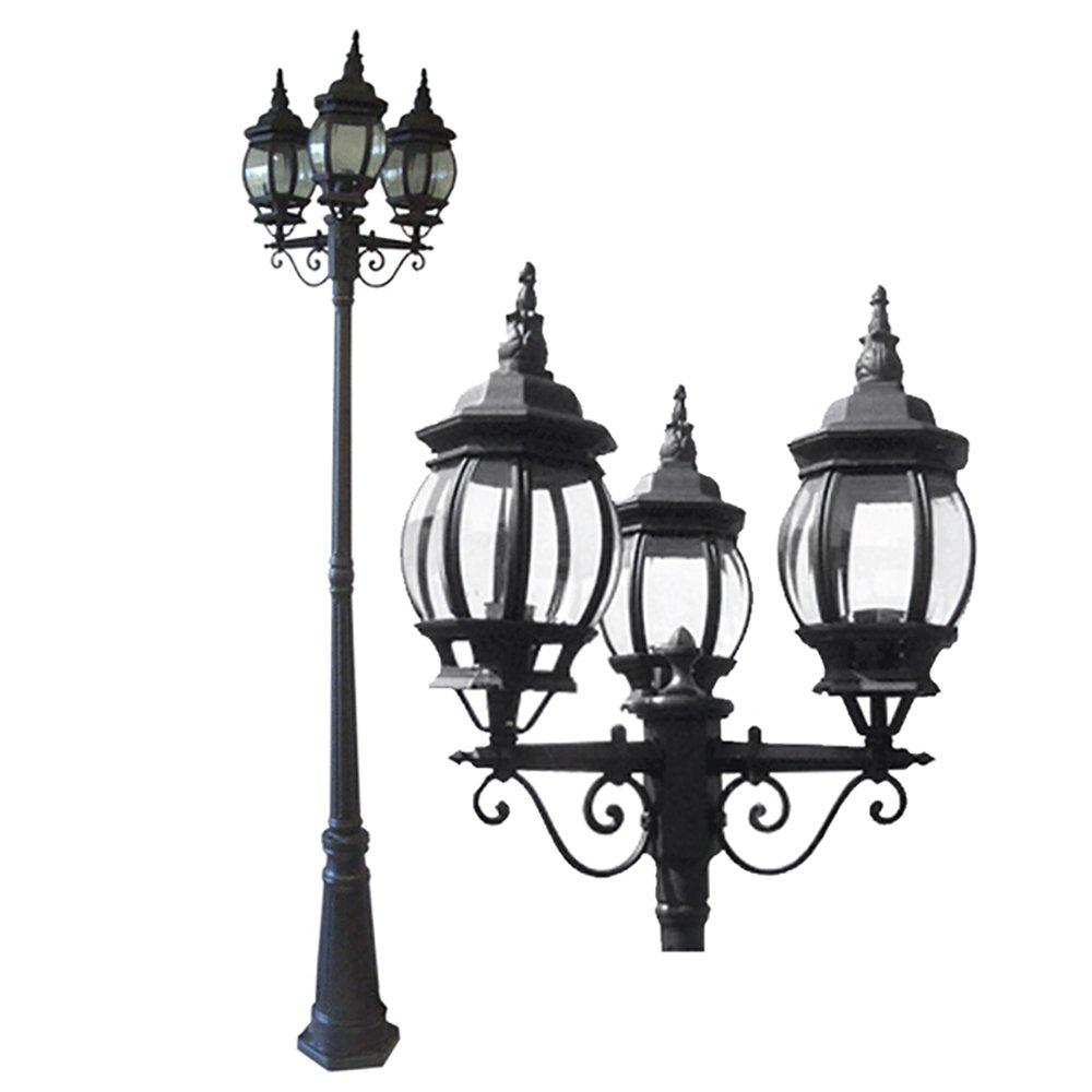 ETOPLIGHTING La puissance Collection Oil Rubbed Black Finish Outdoor Post Pillar Lantern Light w/Beveled Glass APL1132