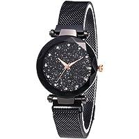El más Nuevo Reloj Starry Sky a Prueba de Agua, Correa magnética con Hebilla, Reloj de Acero Inoxidable para Mujeres…