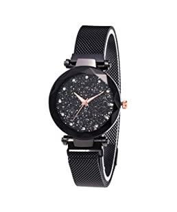 Women Starry Sky Watch,Fashion Luxury Wrist Watches with Stainless Steel Strap