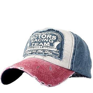 Malloom Nueva unisex gorra de b/éisbol algod/ón mezclado motocicleta Gorra molienda borde do old Sombrero azul marino azul marino