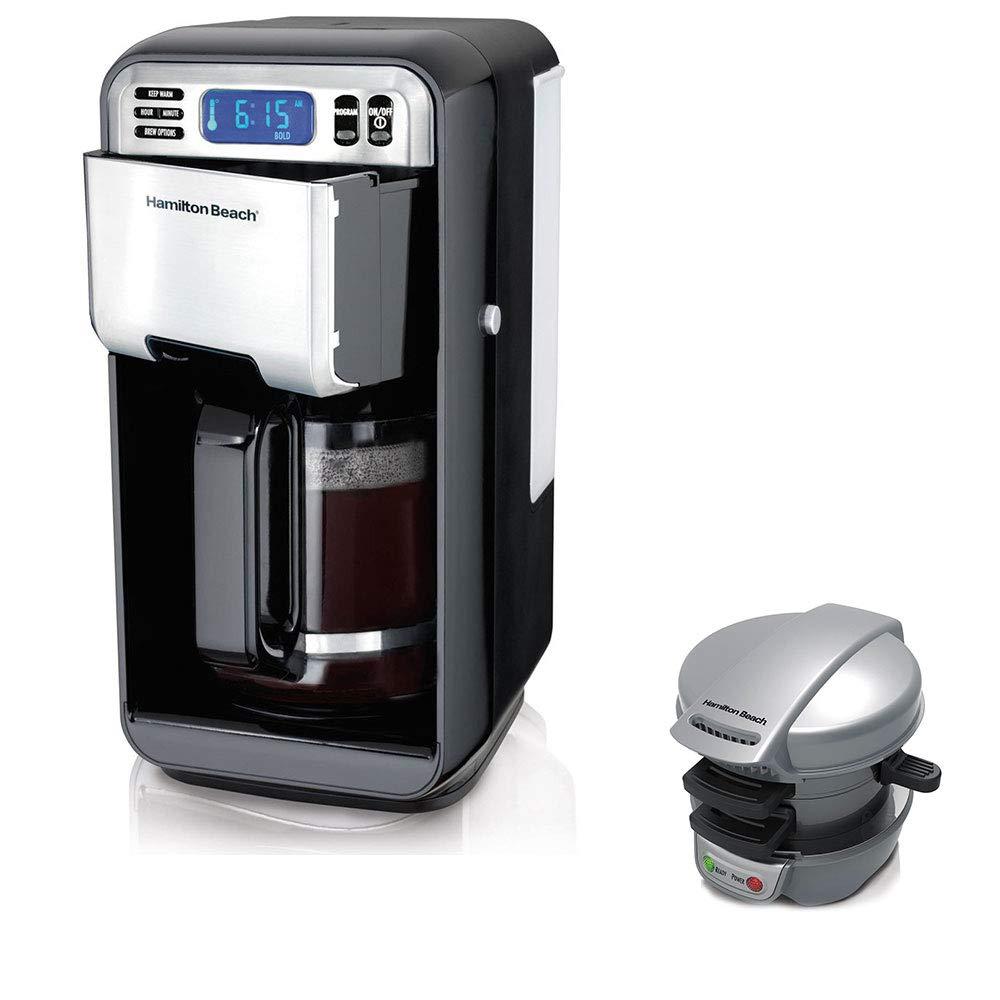 Hamilton Beach 12 Cup Programmable Coffeemaker w/Press Breakfast Sandwich Maker