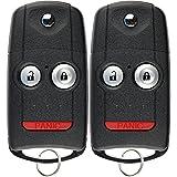 KeylessOption Keyless Entry Remote Control Car Key Fob Clicker for Acura MDX, RDX (Pack of 2)