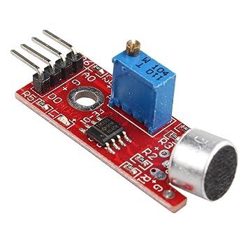 Haljia micrófono de alta sensibilidad, módulo sensor de detección de sonido de voz para Arduino Raspberry Pi AVR PIC: Amazon.es: Electrónica