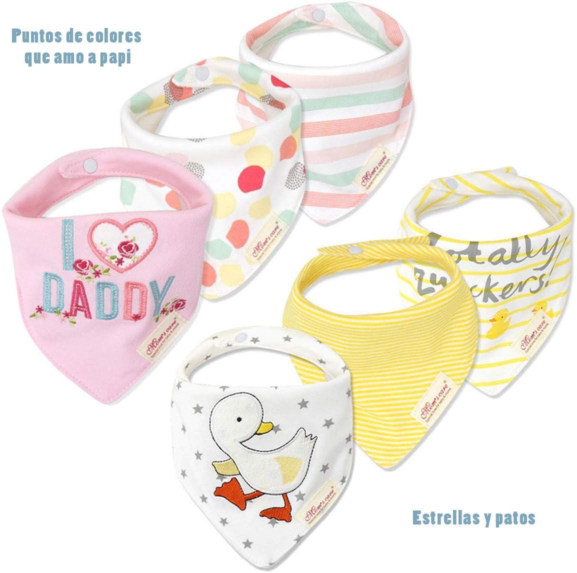 Baby Bandana Drool Bibs Soft and Super Absorbent Baby Impermeable para la dentición Baberos para bebés y niños recién nacidos Regalos para bebés Paquete de 6 girl2