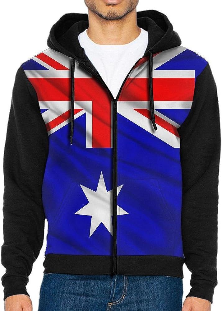 Mens Full-Zip Hooded Australia Fleece Sweatshirt