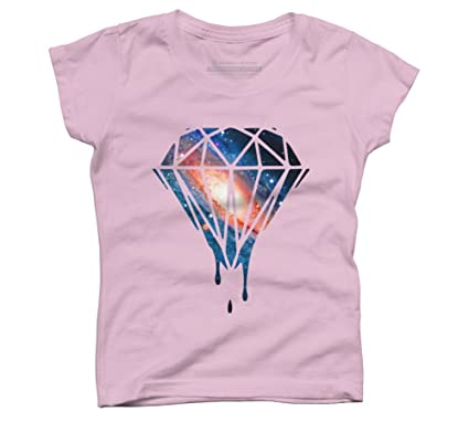 9bf8925cbed113 Diamond Galaxy Girl's X-Small Pink Youth Graphic T Shirt - Design By Humans