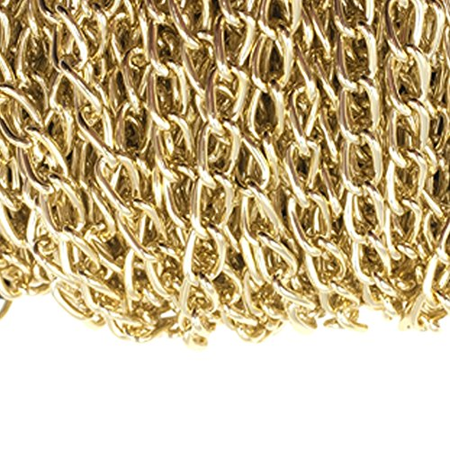 WUBOECE Dcatcher Aluminum Curb Chain Link in Bulk for Necklace Jewelry Accessories DIY Making 11 Yards 4.5mm Width, KC Gold