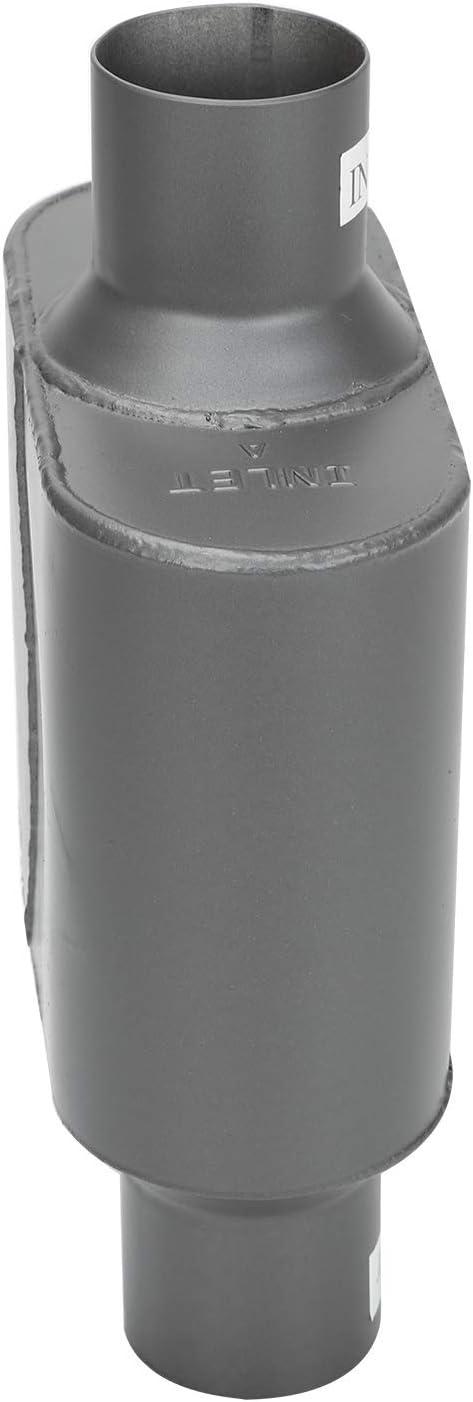 Universal Muffler 2.5 Inlet 2.5 Center Outlet Aluminized Steel 2.5 Inch Exhaust Chamber Race Muffler