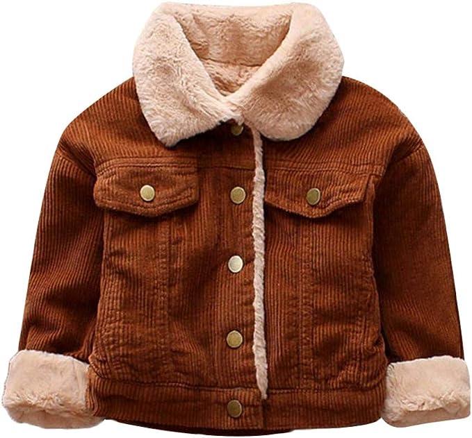 Homebaby Invernale Cappotto con Cappuccio Bambino Ragazza Ragazzo Giacca Imbottito Cotone Leggero Mantello Autunno Cardigan Spessa Vestiti Caldi Felpa Manica Lunga