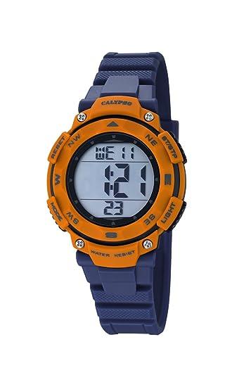 Calypso - Reloj digital unisex con LCD Pantalla Digital Esfera Azul y Correa de plástico K5669/4: Amazon.es: Relojes