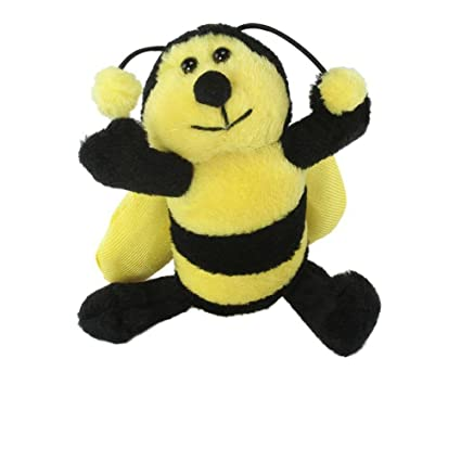 Amazon Com Bumble Bee Plush Keychain By Unipack Soft Small Bee