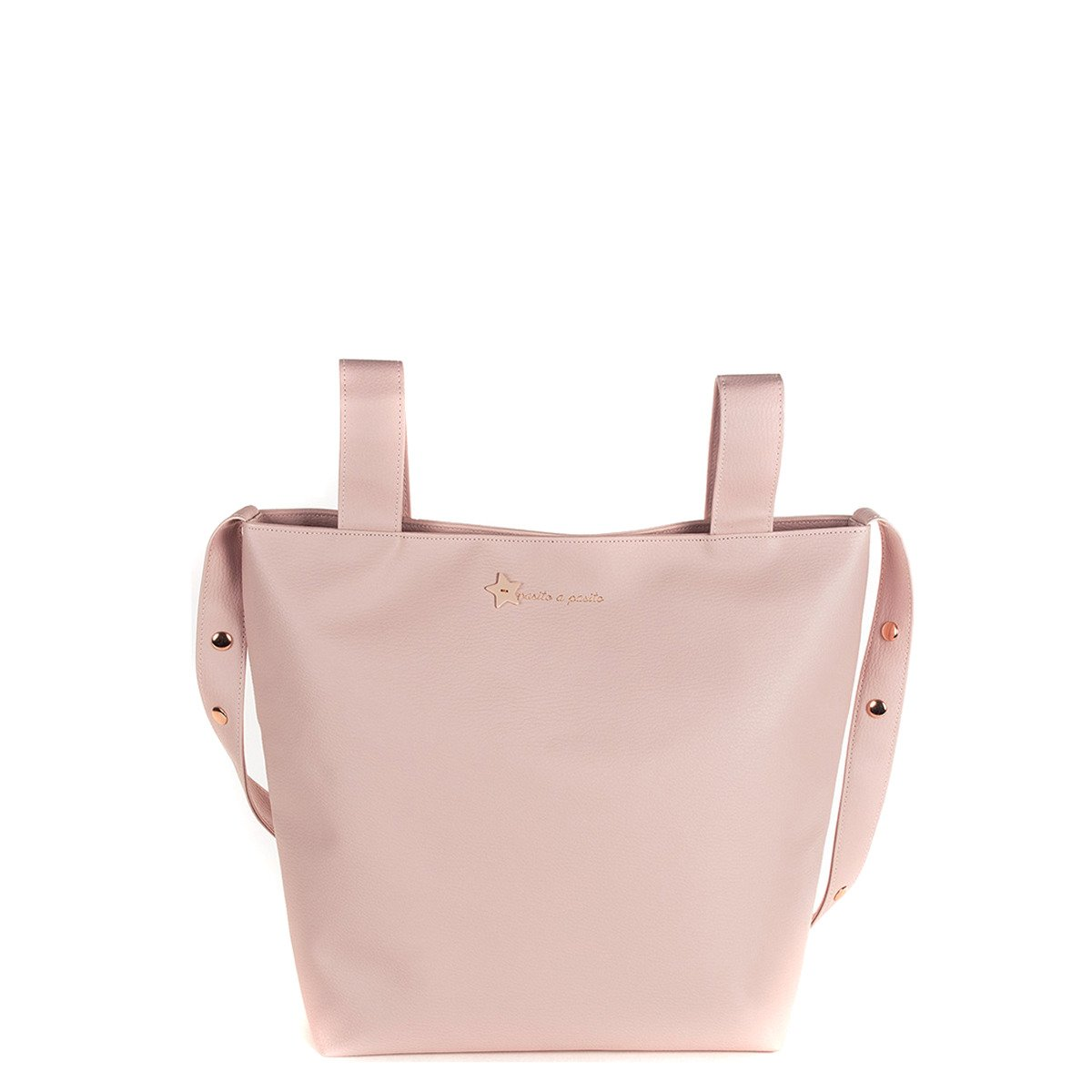 Pasito a Pasito - Nappy Bag or Purse for Buggy Elodie in Imitation Leather Nude Buggy Bag, Very Elegant and Practical, Carry All You Need for Your Baby 91866