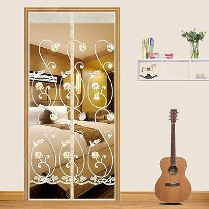 28x75inch Insektenschutz Magnetvorhang Magnetverschluss f/ür Schlafzimmert/üren Balkont/üren Brown Logo Fliegengitter Magnet Balkont/ür 70x190cm