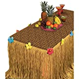 "Summer Luau Transform-a-Table Decorating Kit Tropical Hawaiian Beach Party Decoration, Plastic, 54"" x 108"", Pack of 2"