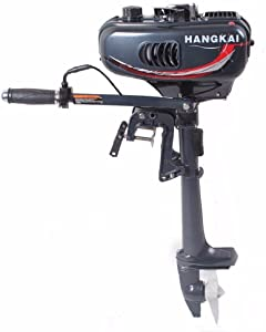 HANGKAI 3.5HP 2 Stroke Heavy Duty Outboard Motor Boat Engine w/Water Cooling System