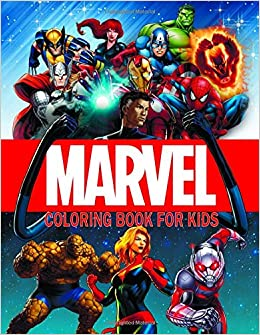 Marvel Coloring Book For Kids: MARVEL Super Heroes: Captain Marvel ...