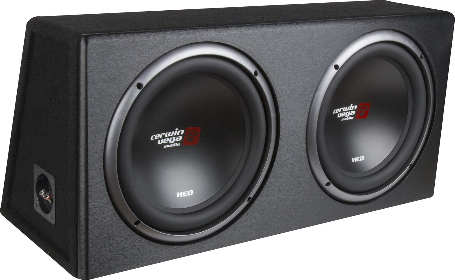 Cerwin-Vega Mobile CERXE10DV XED Series XE10DV Dual 10-Inch Subwoofers in Loaded Enclosure, Black