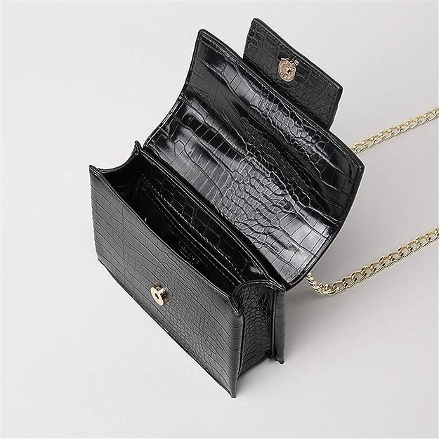 952b442faa cdnb Sacs portés épaule Sac femme automne et été petit sac carrée sac à bandoulière  sac à bandoulière sac besace noir: Amazon.fr: Chaussures et Sacs