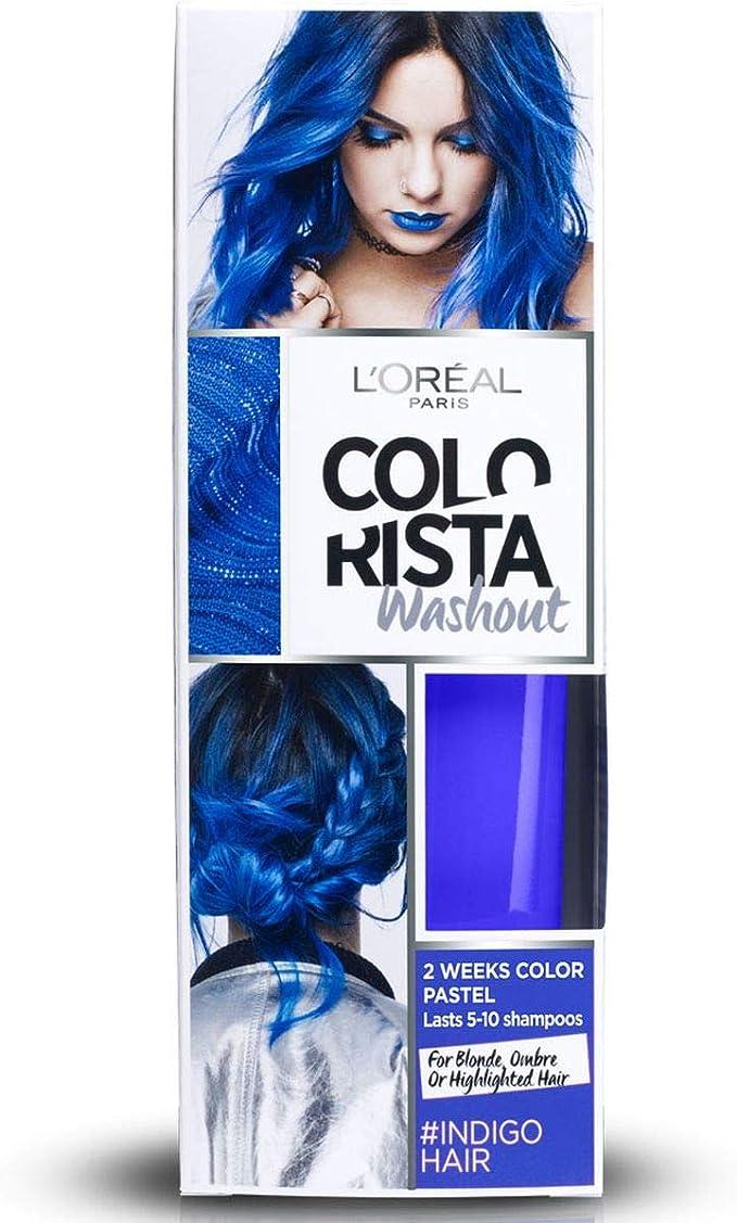 LOreal Paris Colorista Coloración Temporal Colorista Washout Indigo Hair - 1 Unidad