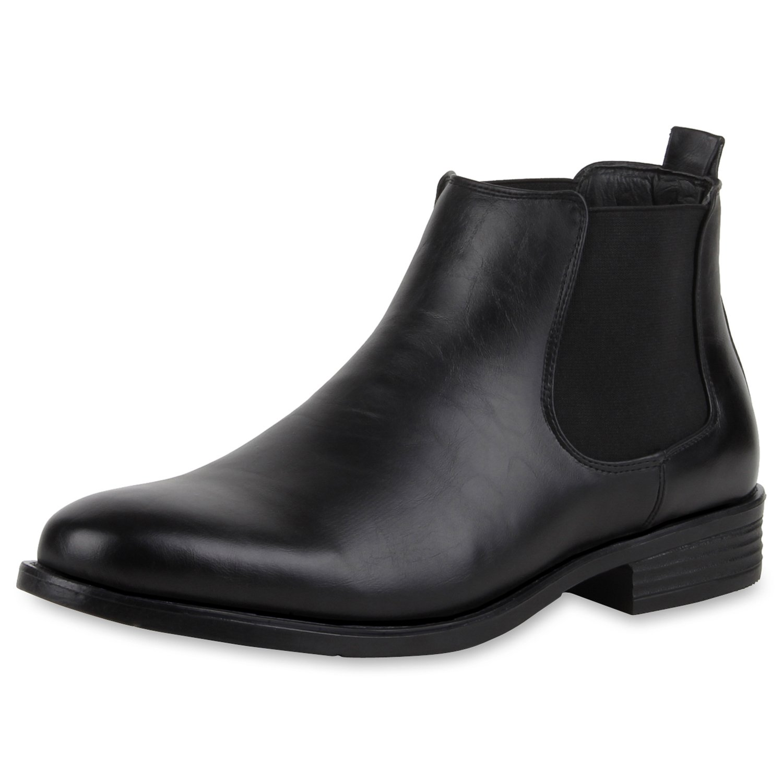 SCARPE VITA Herren Chelsea Boots Warm Gefüttert