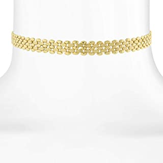 "product image for 1928 Jewelry 14K Gold Dipped Textured Chain Choker Necklace 12"" Adjustable"