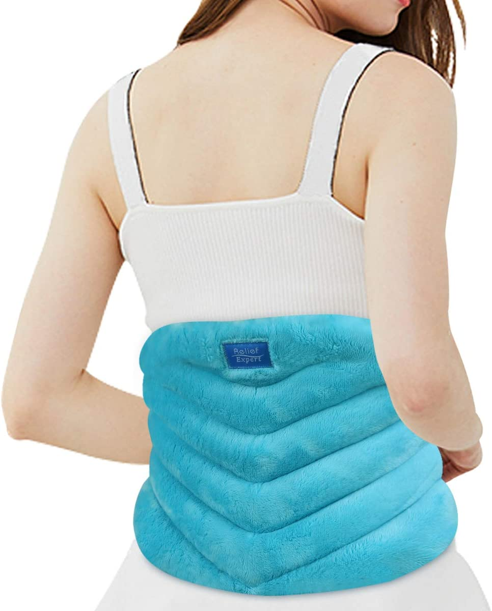 Relief Expert Microwave Heating pad for Lower Back Pain Relief, Extra Large Microwavable Heat Wrap for Lumbar, Waist, Stomach Cramps, Legs, Neck and Shoulders, Natural Hot or Cold Therapy: Health & Personal Care