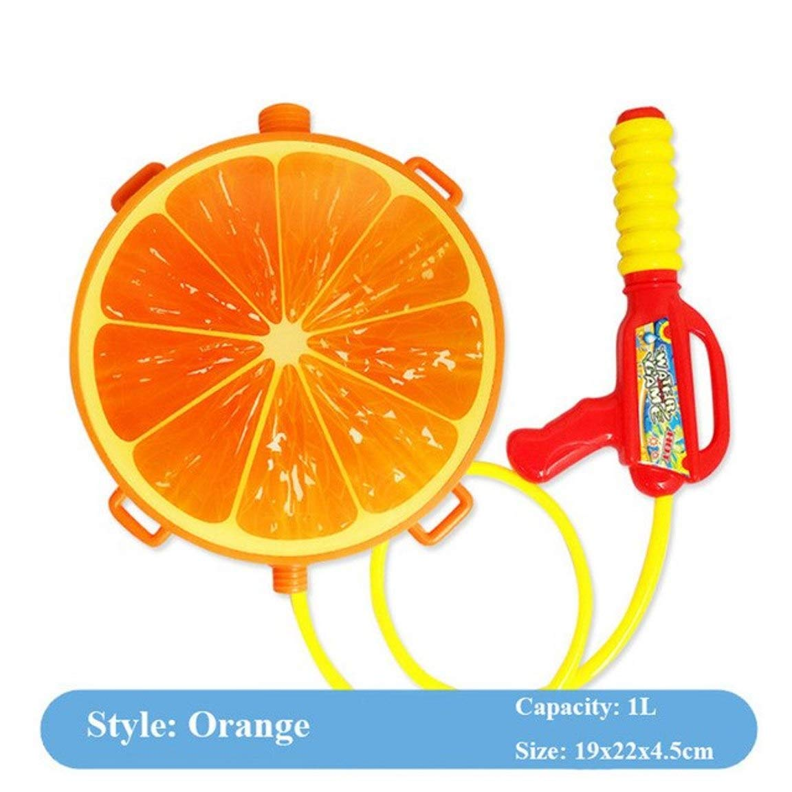 5billion 1pcs Children Water Gun Toy Cute Orange Toy Guns Air Pressure Water Sprayer for Kids Boys Beach Toy