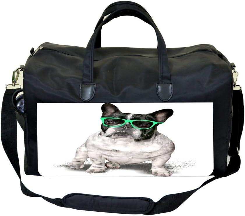 Pug in Glasses Gym Bag
