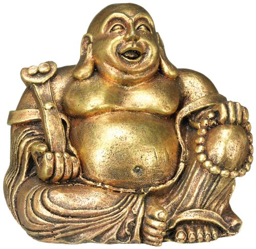 Nobby 28393 Aqua Ornaments Buddha gold, 13.5 x 11 x 12 cm