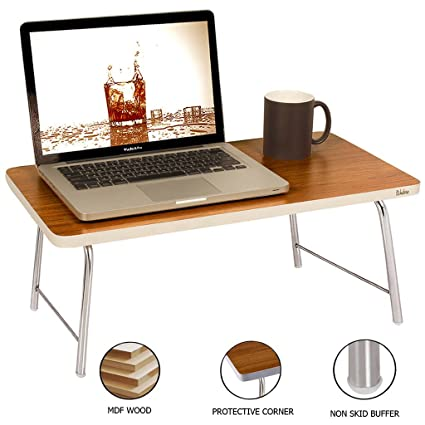 Wudore EBT-FB-T01 Portable Folding Laptop Table (Brown)