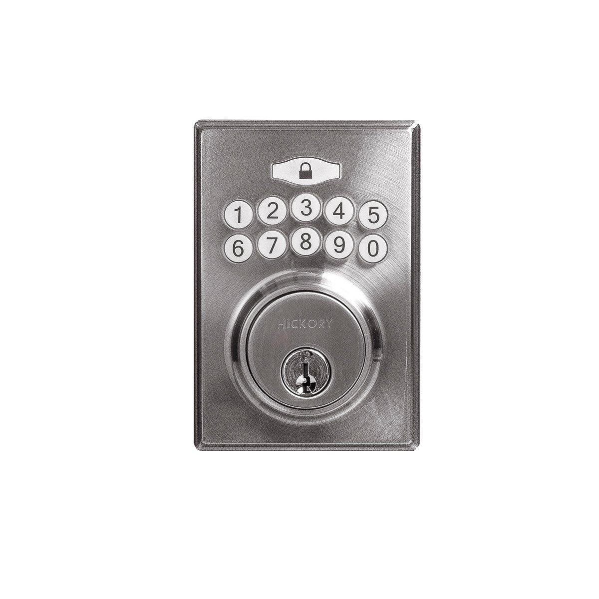 Hickory Hardware H076389-SN Securemote Bluetooth Enabled Deadbolt Satin Nickel
